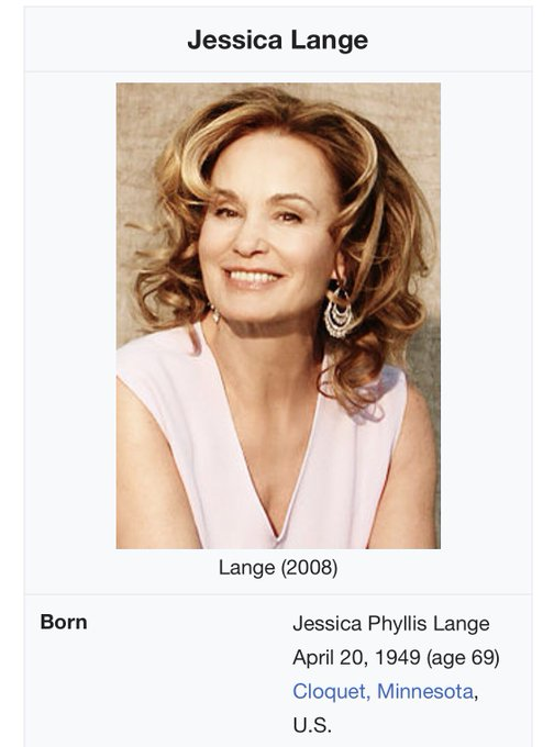 Happy 69th birthday to Jessica Lange   4/20 will never be this good again