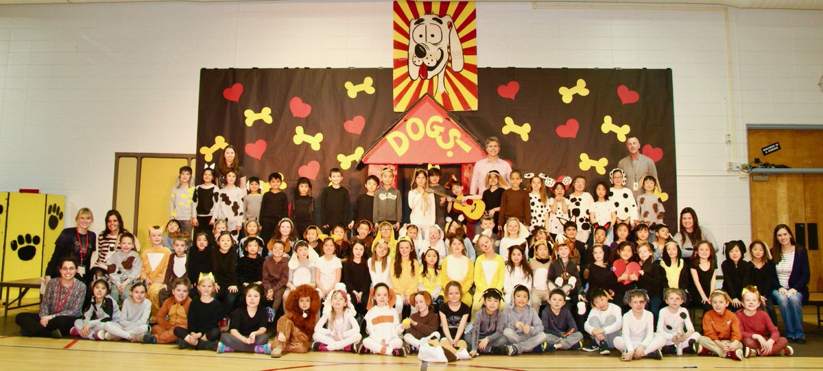 "test Twitter Media - Today W first graders performed the original musical ""Dogs!"" for the  last time at Wescott w/Bill Vaananen. It premiered 32 years ago with the  3rd graders and has been a beloved show in many 3rd graders' lives over  the years!  #d30learns https://t.co/knammIDGmy"