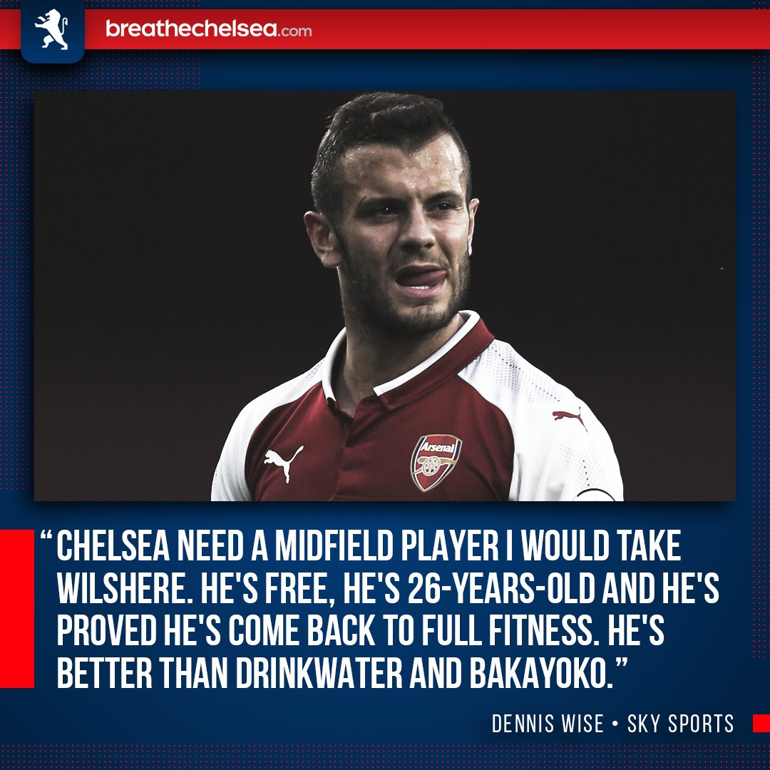 RT @BreatheChels: Do you agree with Dennis Wise who claims #CFC should look to sign Jack Wilshere? ⚽️ https://t.co/3xzGBLhBOl