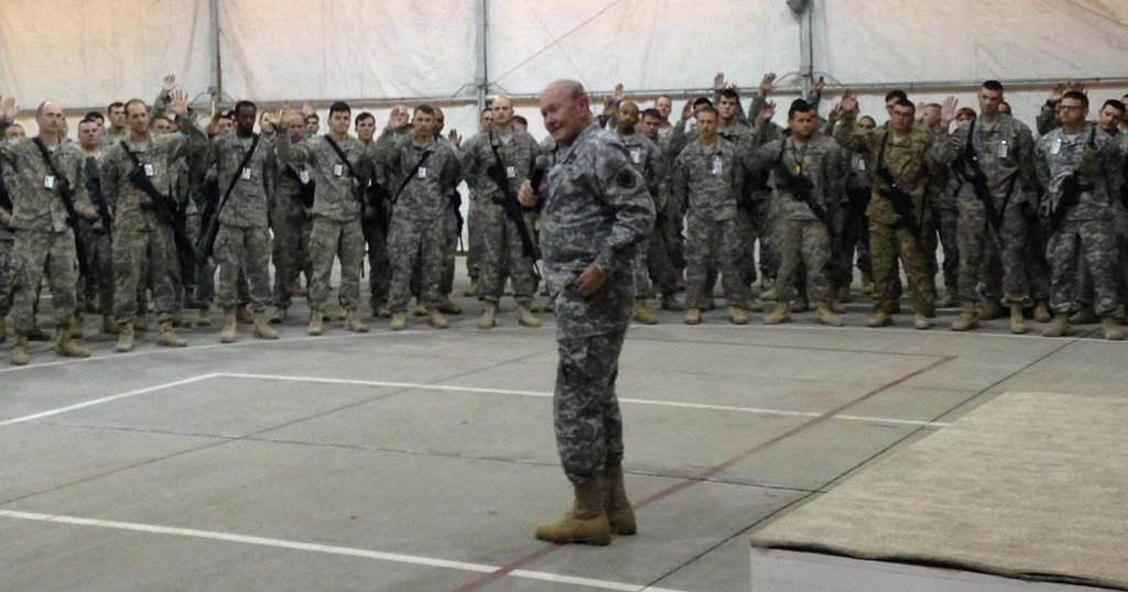 Army lowers recruiting goal but leaders say more soldiers are staying on