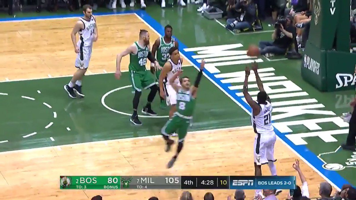 Giannis dumps it off to Malcol brogdon