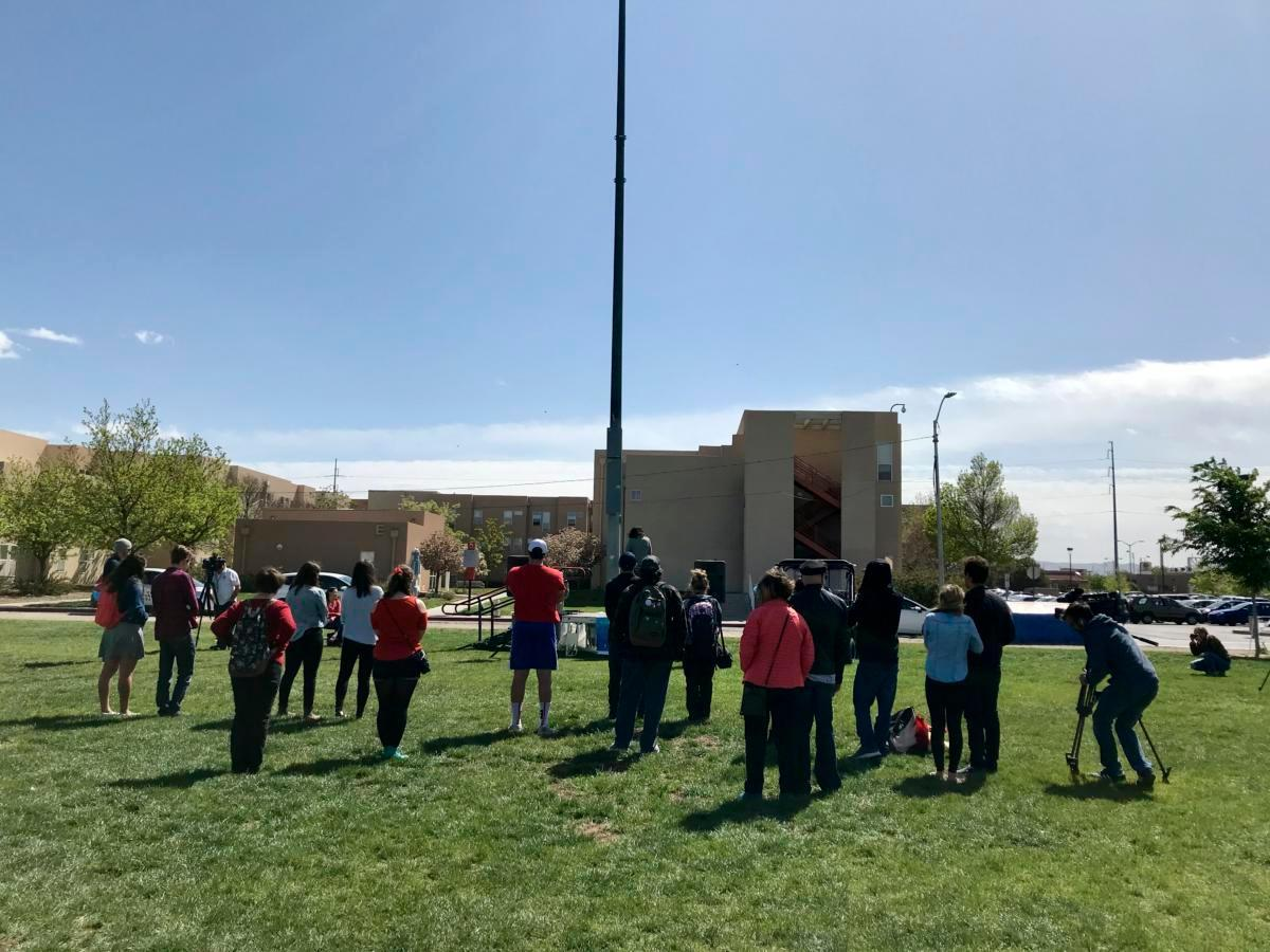 UNM students join walkouts protesting gun violence