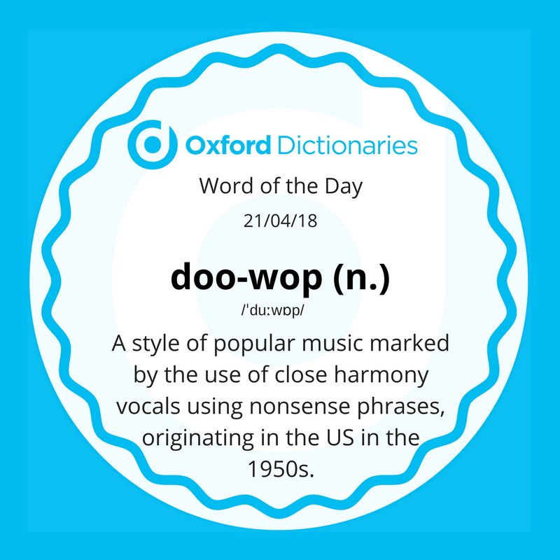 test Twitter Media - Word of the Day: doo-wop https://t.co/b8GcAEWXxw https://t.co/cdvVeWHtvT