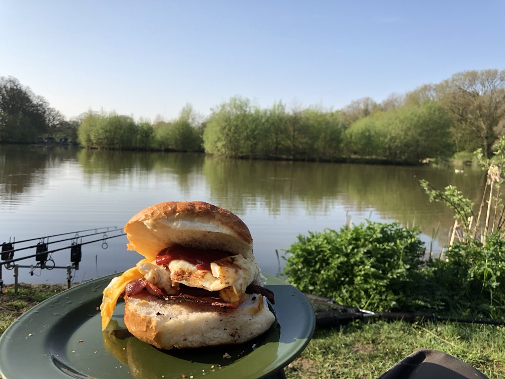 A great morning to be on the bank, 1 mid <b>Double</b> last night now it's breakfast time! #carpfi