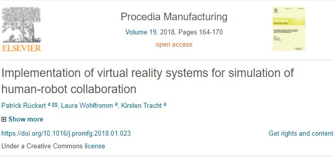 test Twitter Media - The following @ElsevierConnect article will show you how virtual reality is used for human and #robot collaboration. https://t.co/MTTtp3OopD #VR https://t.co/1u8F4M7hW1