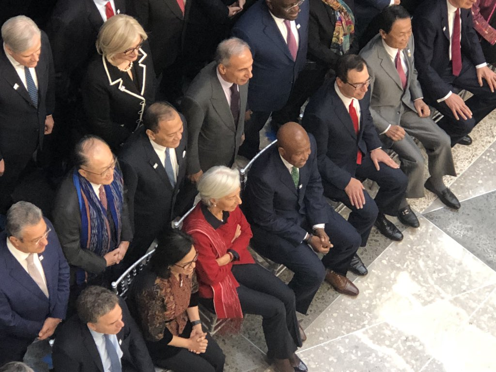 test Twitter Media - Class photo of IMF Governors: Lesetja Kganyago front and centre, Minister Nhlanhla Nene in the mix (again). More women needed in the room, clearly. #sabcnews https://t.co/2Lto9bPQPN