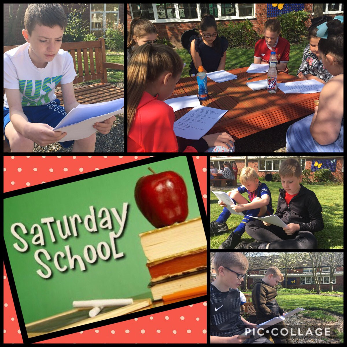 Y6 working hard in the ☀️ Such a positive atmosphere in Saturday School today!  #SATs #Revision  @KnowsleyCouncil https://t.co/IcVIHZ85wQ