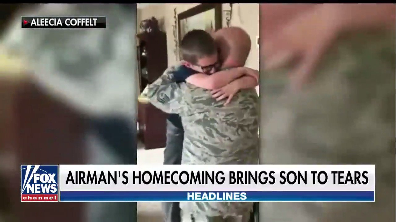 North Dakota airman's surprise homecoming brings 8-year-old son to tears https://t.co/nD8Z2InuGx https://t.co/hvej49CwGO