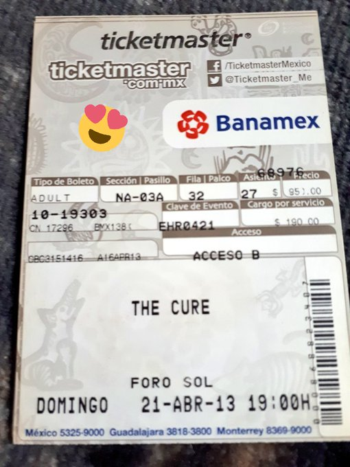 El concierto de mi vida ...  Happy Birthday Robert Smith