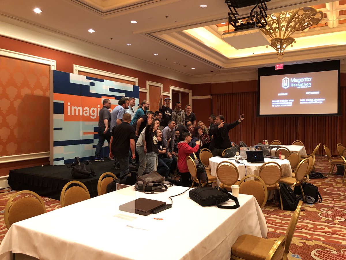 WebShopApps: #MagentoImagine #hackathon pic in progress! https://t.co/CE0xdCqXSI