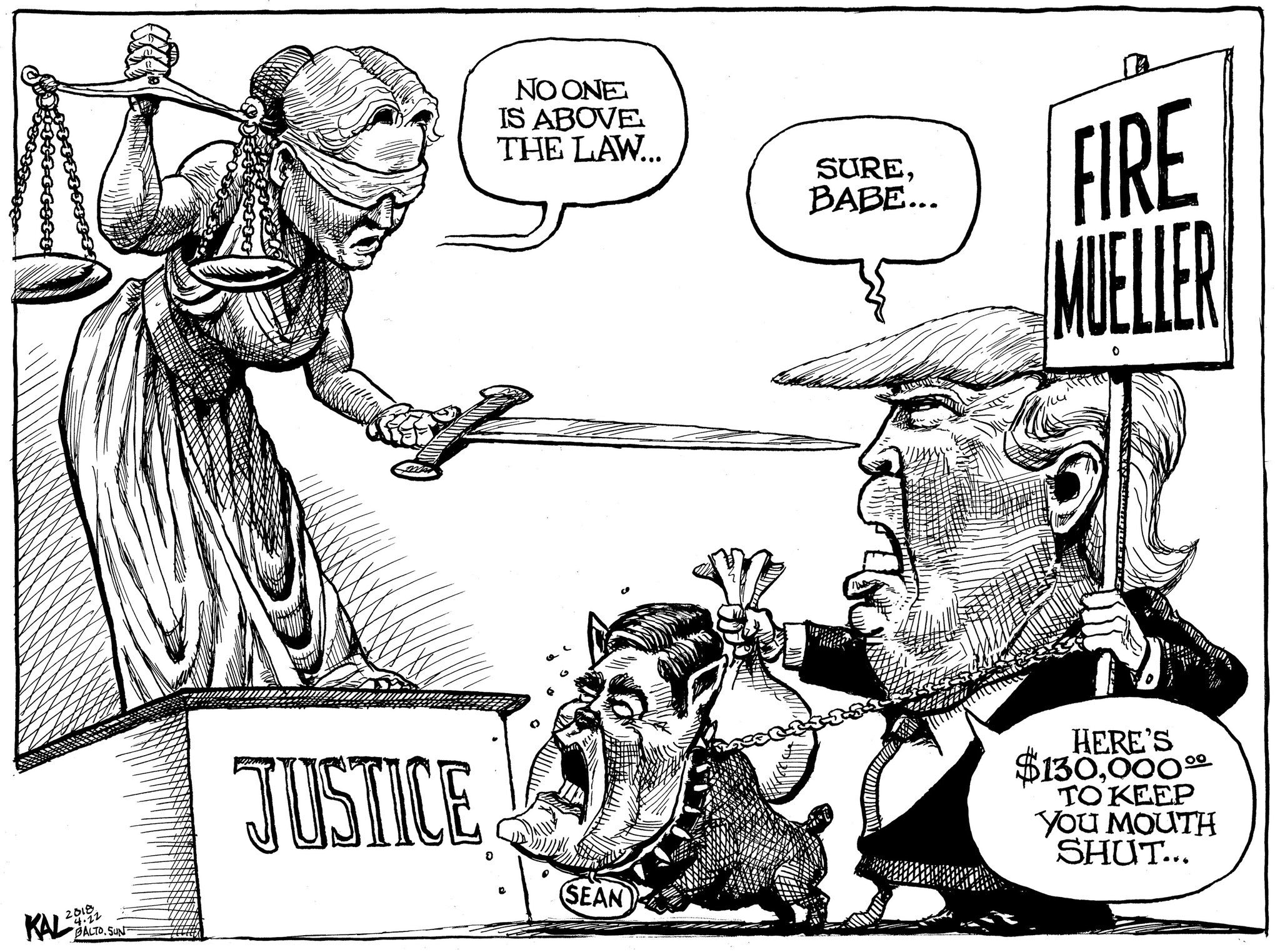 Kal on Donald Trump and the Law - political cartoon gallery in Putney https://t.co/jvMtJzLjb6