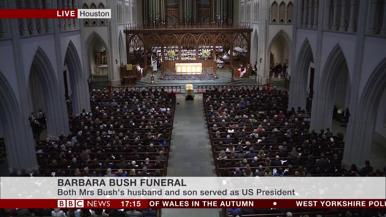 Barbara Bush funeral: 1,500 people attend service in Texas   #BarbaraBushfuneral https://t.co/lEFRJzUJ1Z https://t.co/IbWeiBkvRp