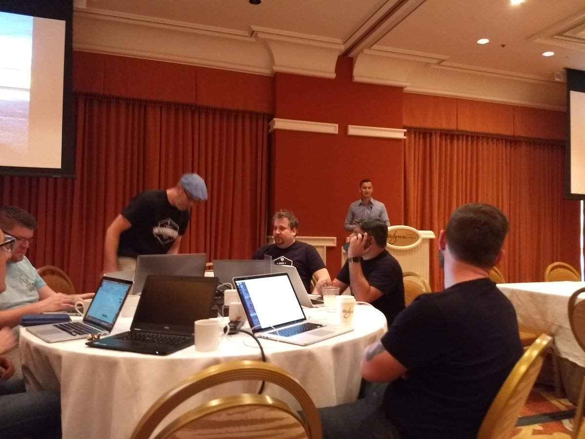 aleron75: .@sourcesoldier kicking off 6th #MageHackathon of #MagentoImagine https://t.co/NIE61GGNCd