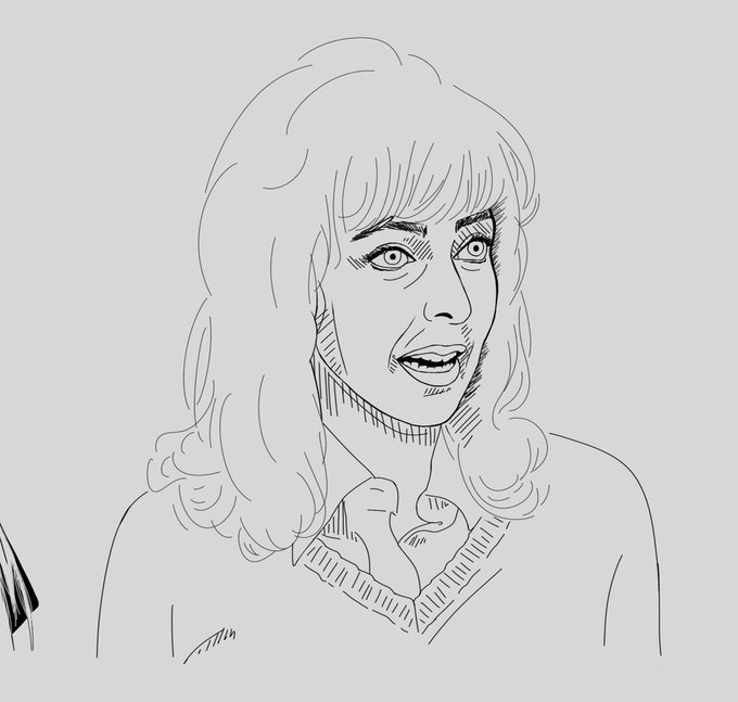 Happy birthday to Elaine May! Here s my portrait of her from my women filmmaker illustration project
