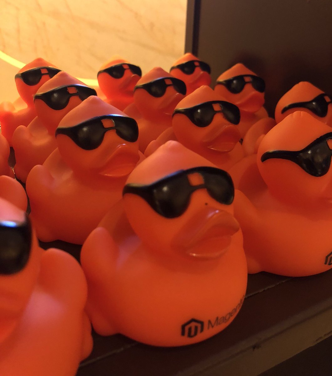 Yennyontheblock: The gangs all here! #MagentoImagine  #quackquack https://t.co/rnHPeKNolA