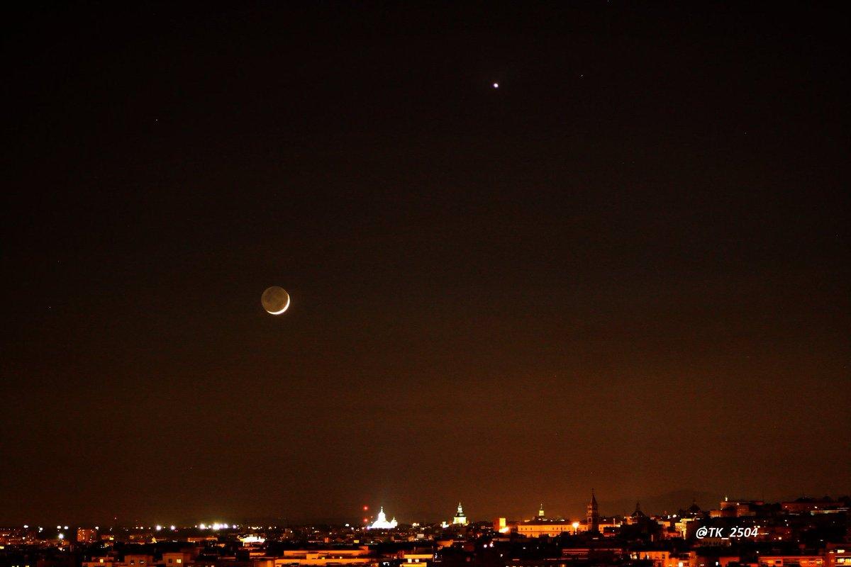 Hoy en ... no manda esta preciosa imagen de la primera luna en ...