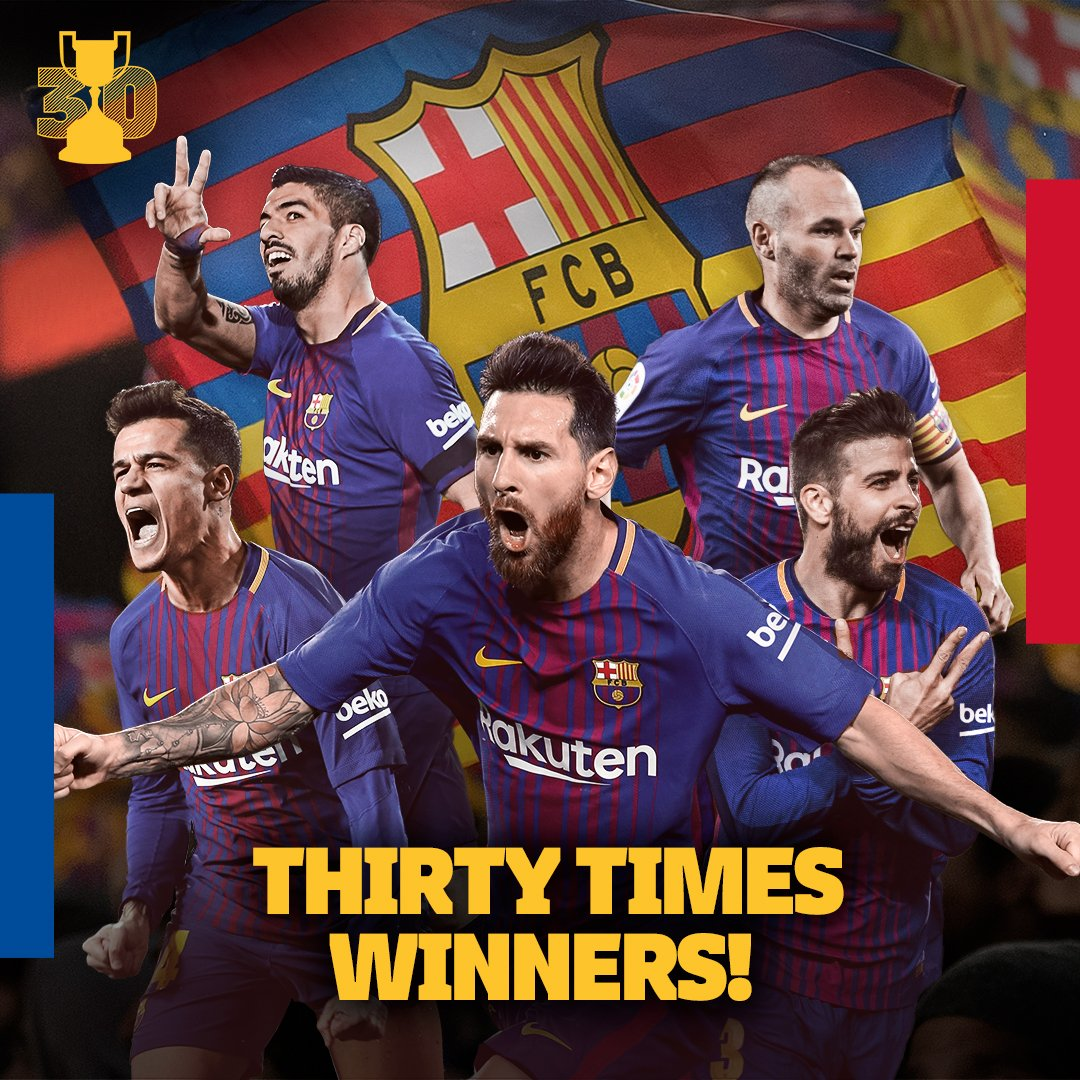 30 TIMES WINNERS!!! ���� #Copa30 https://t.co/S7faU5Fb3u
