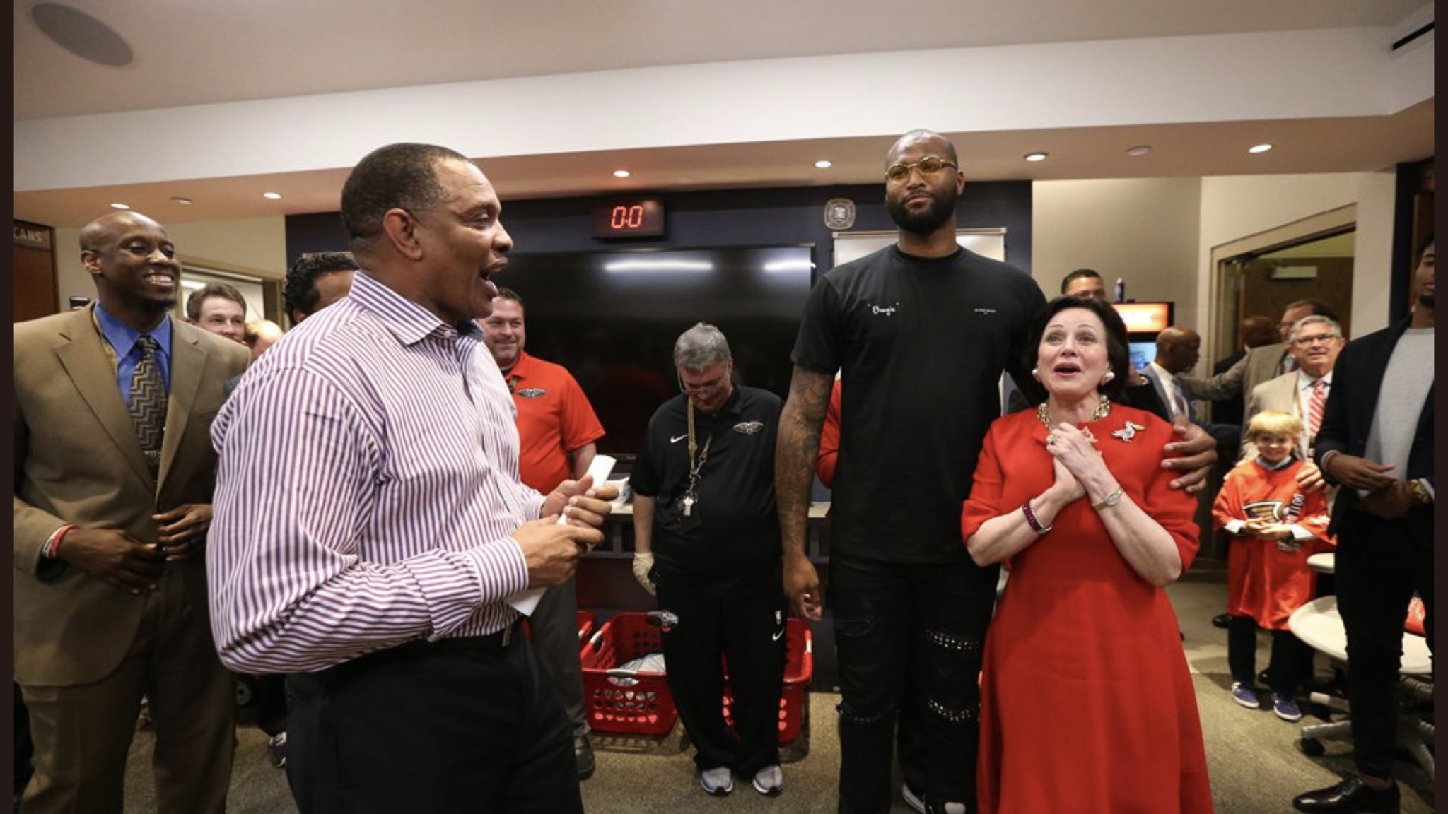 Photos from the #Pelicans locker room after the sweep! https://t.co/2IFxCaXenk #doitBIGGER https://t.co/9EIOrWFFTn