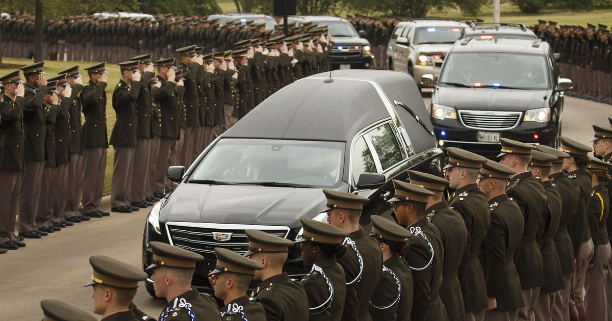The funeral of Barbara Bush, former first lady