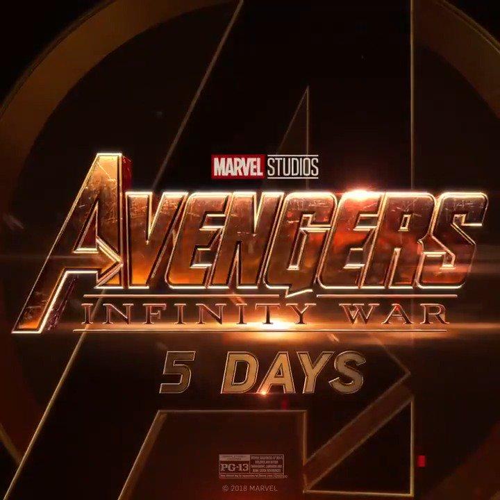 See Marvel Studios' 'Avengers: #InfinityWar' in five days. Get tickets now: https://t.co/kctg8VkHan https://t.co/YeLIz6NHSx