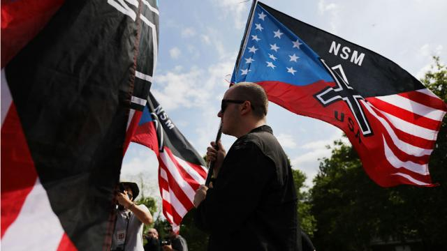 Hundreds of counter-protestors vastly outnumber those gathered for neo-Nazi rally in Georgia https://t.co/oWqtgmvj55 https://t.co/1iPCAiDBaF