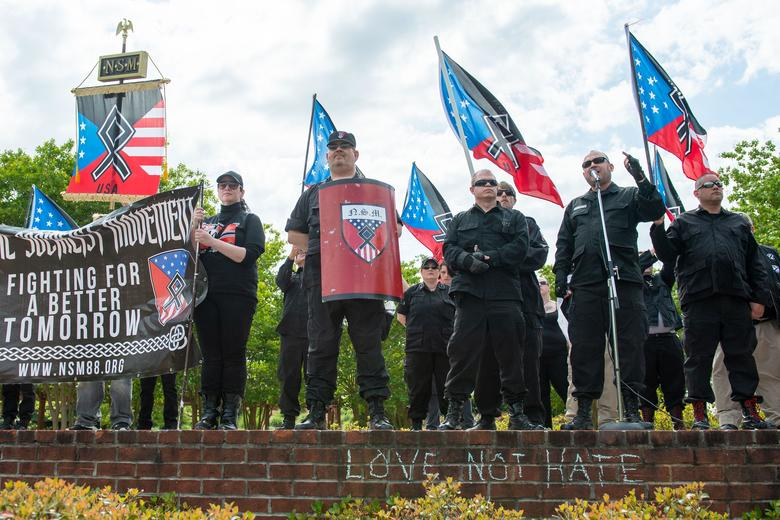 Neo-Nazi counterprotesters met by aggressive military police force in Georgia. https://t.co/LQl6FrQZ9C https://t.co/k8dOm19o65
