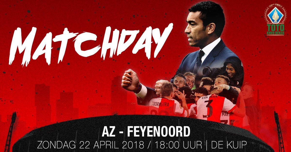 test Twitter Media - M A T C H D A Y   ⚽️ AZ - Feyenoord 🏆 @KNVB Bekerfinale 🏟 18:00 uur, De Kuip Rotterdam  #azfey #TOTOKNVBBeker https://t.co/wWESOqZQhN