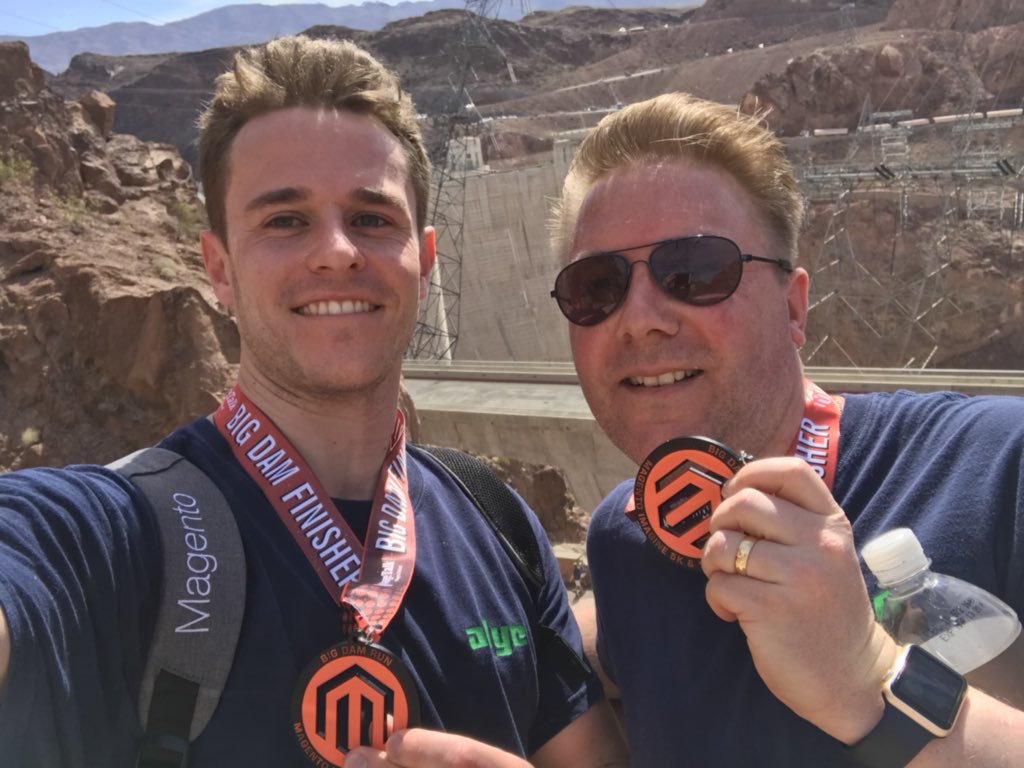 MappersGKAcad: The views of the Dam are unreal but I'm feeling the 5k now!! #BigDamRun  @magento @samallan24 #MagentoImagine2018 https://t.co/J0AyUD1JTM