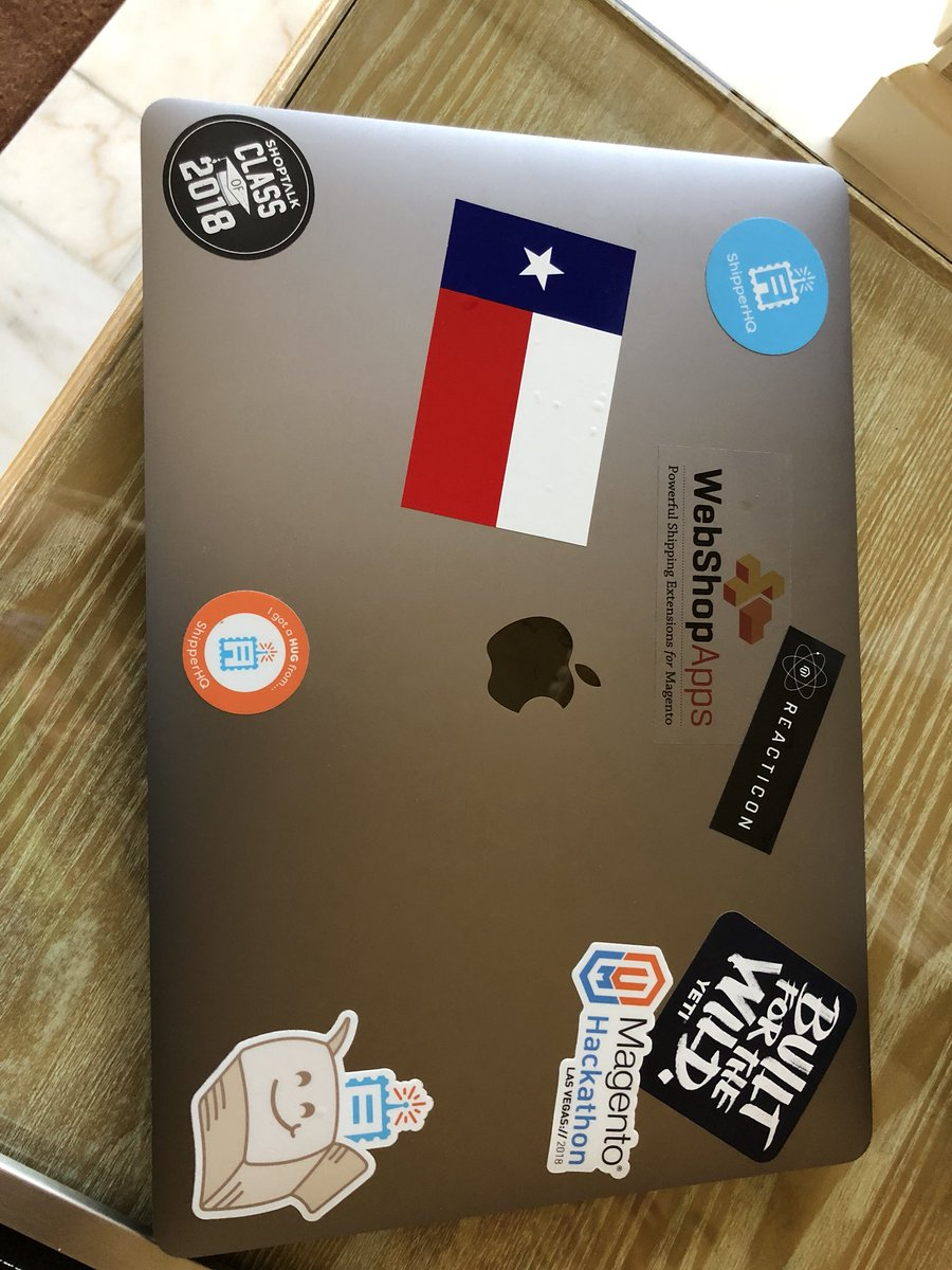 wsakaren: Need some stickers, this new laptop is lacking! #MagentoImagine https://t.co/hSPbun6oZm