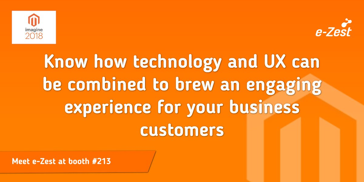 ezest: Interact with industry leaders at Booth 213 #MagentoImagine. https://t.co/usNw3uGA03