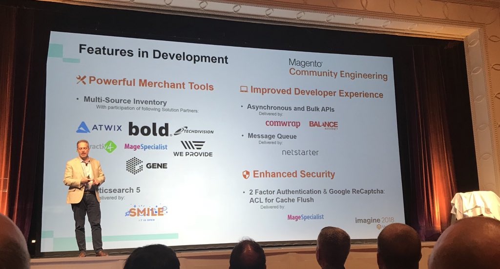 Klettseb: Great to see all the Magento Community Engineering partners and their contributions #MagentoImagine @balanceinternet https://t.co/pFqqLAuIeJ