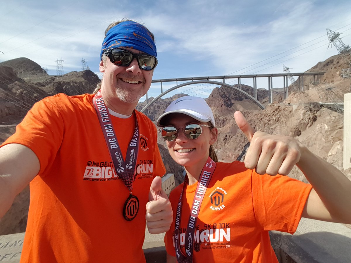 jmevans00: Team @akeneopim representing at the #bigdamrun 10K in the desert, no problem! #MagentoImagine https://t.co/6YpbAcPmrR