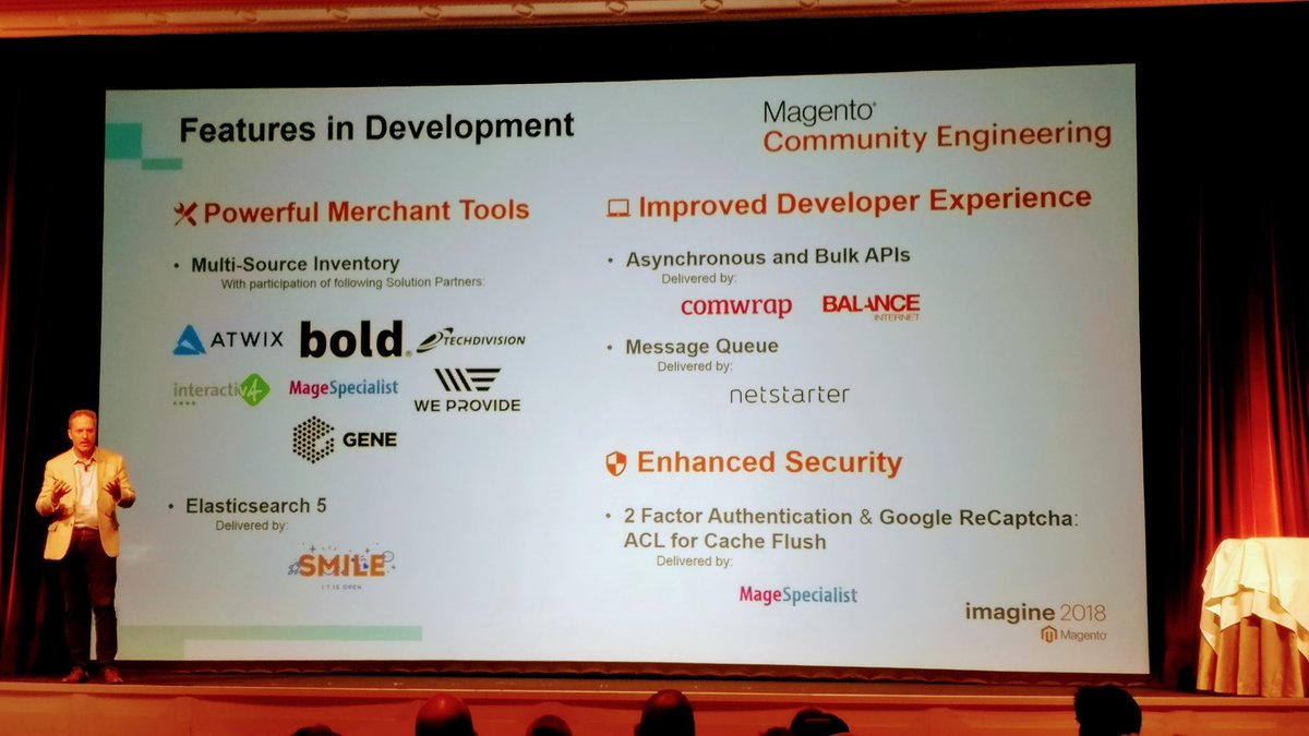 maksek_ua: @jstockton_mg shared few features delivered by our amazing partners. #MagentoImagine #magento https://t.co/6I5dOjCCAX