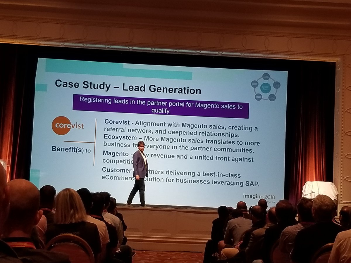 sambayer: #corevist makes the big stage at #MagentoImagine Partner Summit. Thanks #Magento for a great partnership. https://t.co/pcTDV2nIO6
