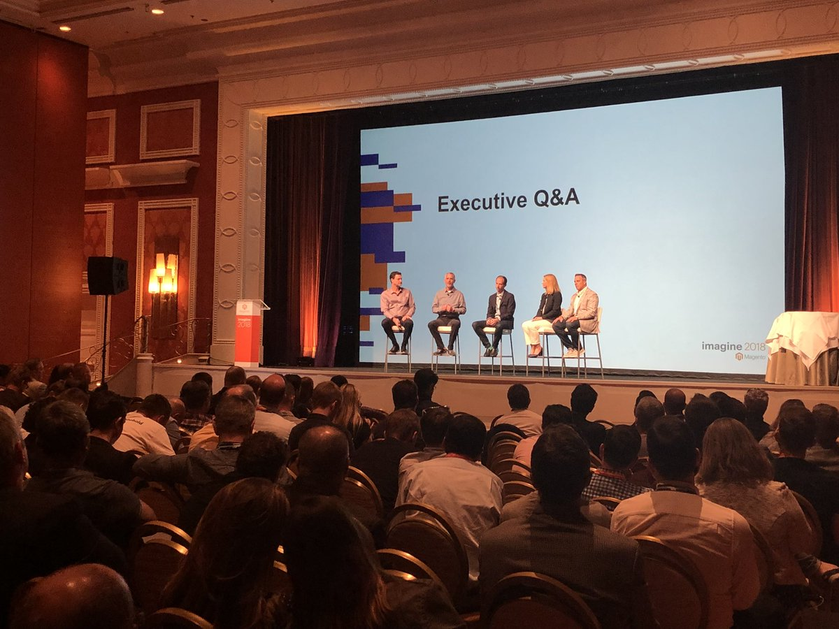 DreeZiegs: Questions for the @magento Executive Team anyone? #MagentoImagine https://t.co/zUBSSbF8Bj