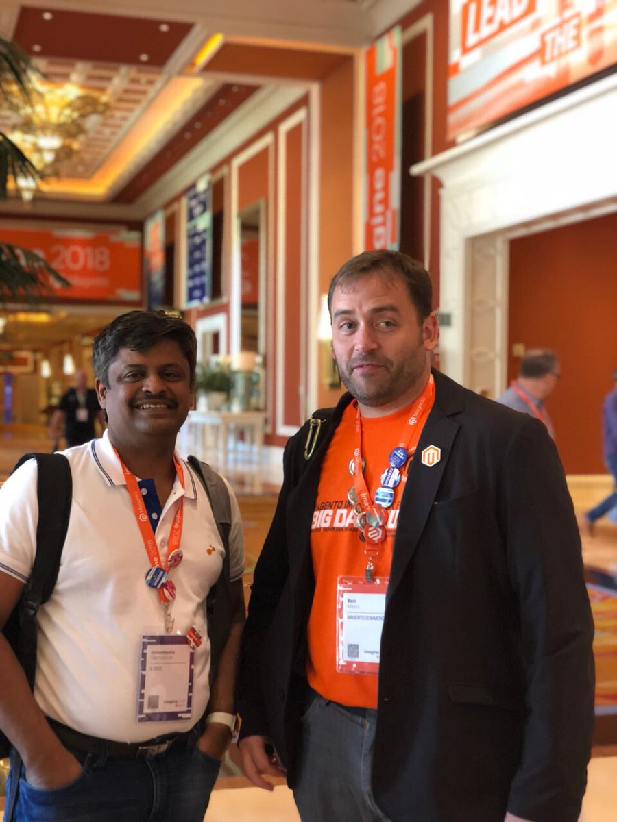 GirishProtean: @benmarks good to c ya fellow evangelist #roadtoimagine @ezest @magento https://t.co/9BOppiMVD9