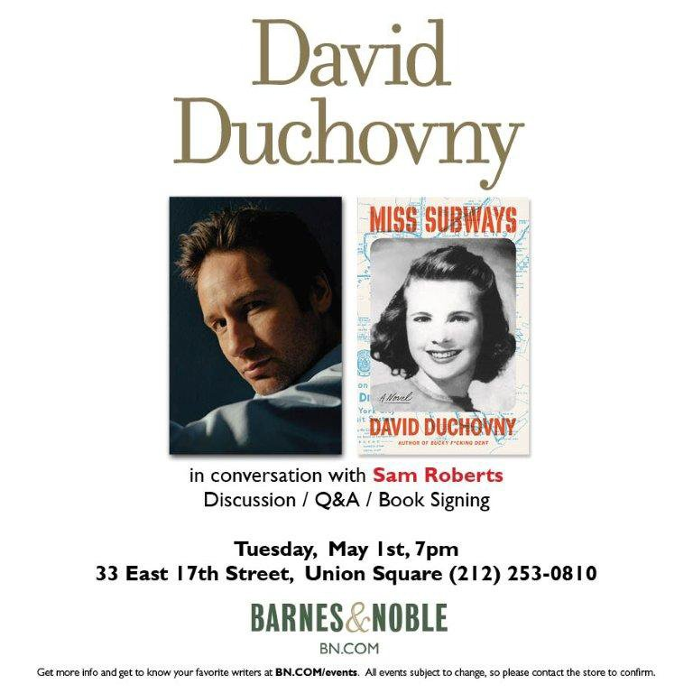 My #MissSubways book tour starts May 1st with a signing @BNUnionSquareNY. For more details: https://t.co/J16z30cOin https://t.co/ODO3cr00cW