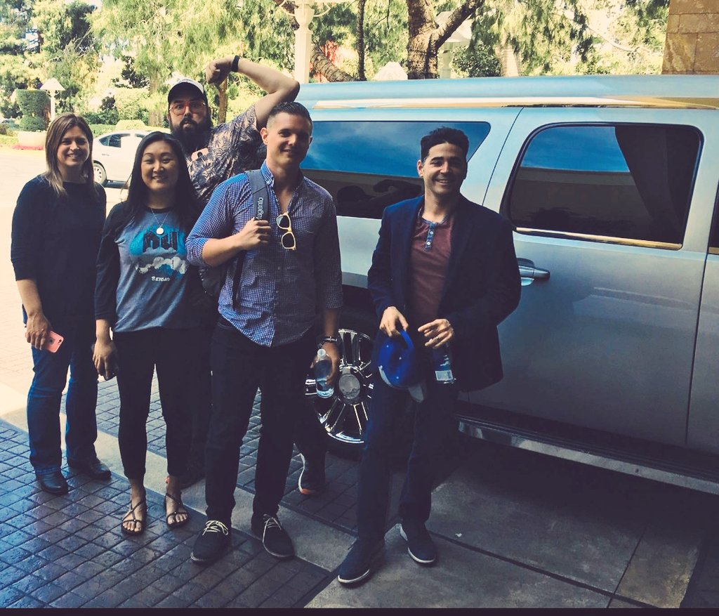 nexcess: Awesome limo ride with @visiture and @loniscreations. Have a great #MagentoImagine! #NexcessLive https://t.co/bA7g65KbjO