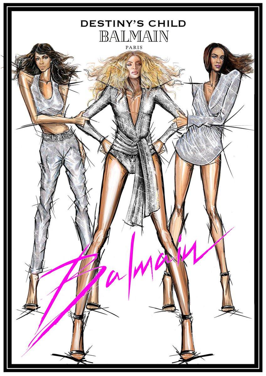 #BEYCHELLA's RETURN, @destinyschild return to #Coachella wearing custom-made #Balmain looks. #BALMAINARMY @Beyonce https://t.co/fXY6cQUs7l