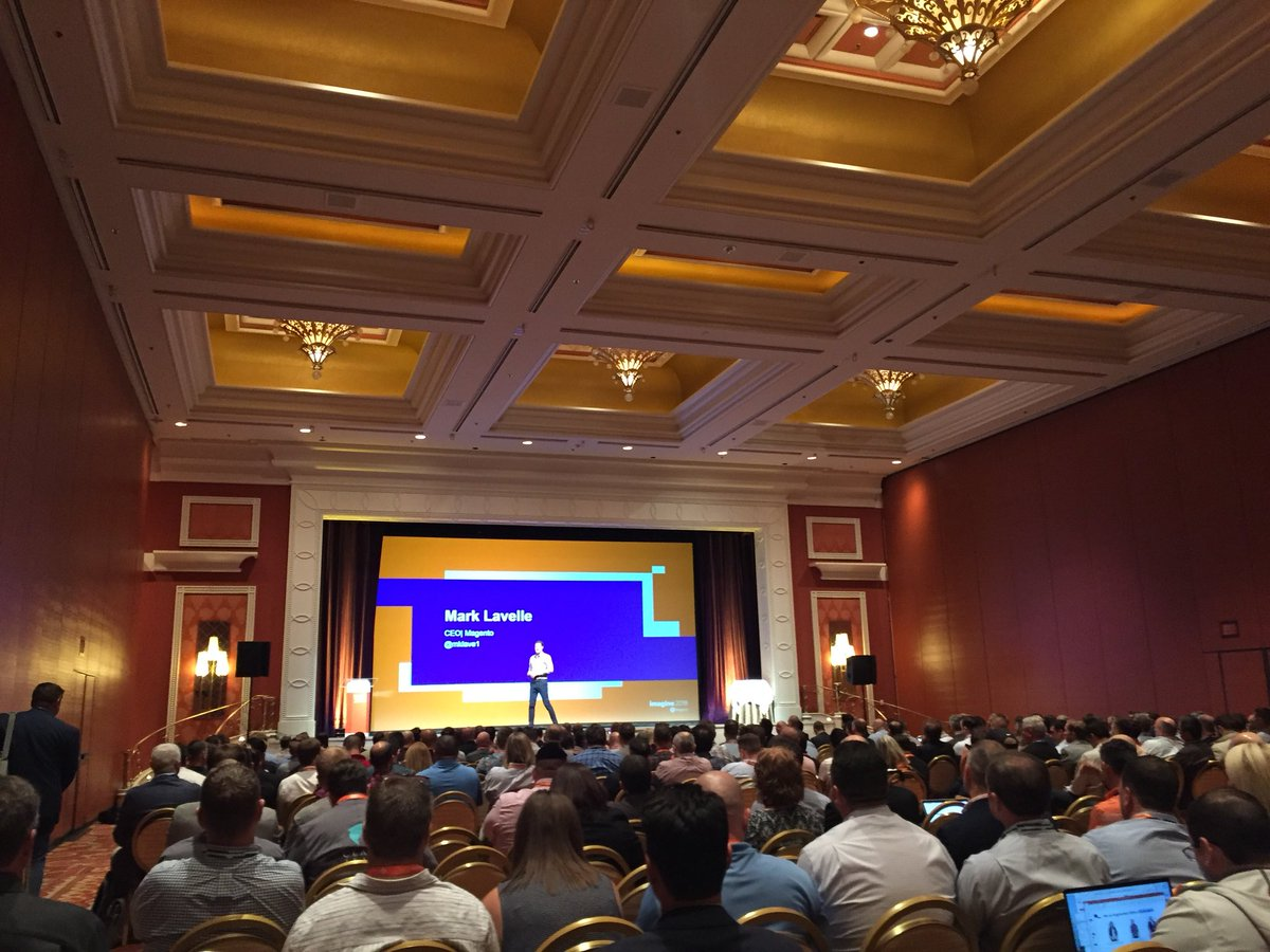 craigpeas: Biggest. Magento. Partner. Summit. EVER. Unbelievably exciting. #MagentoImagine https://t.co/mSmydZ78vp
