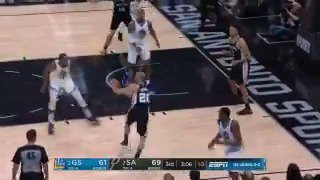 Manu Ginobili with the crafty fake and finish! ��  6 PTS, 5 AST for Manu in the contest.  #GoSpursGo #NBAonABC https://t.co/Jmsn4Of0jo