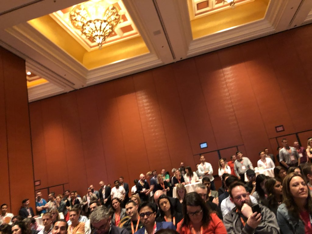 WebShopApps: Standing room only at #MagentoImagine partner summit. This platform is booming, big time! https://t.co/J4MHmqvVHv