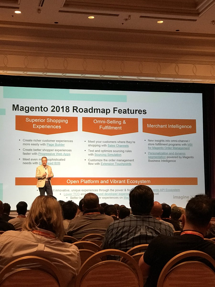 gsicotte: .@jstockton_mg going over the product roadmap at the biggest Partner Summit to date. #MagentoImagine https://t.co/E0wKRo0qtR