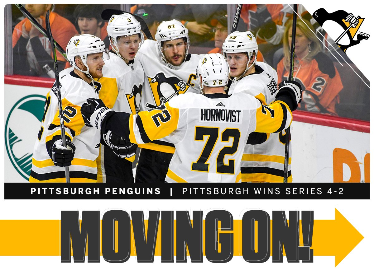 March of the Penguins!  The 2-time defending Stanley Cup champions have won 9 (!) straight postseason series. https://t.co/DMgZrQeVYC