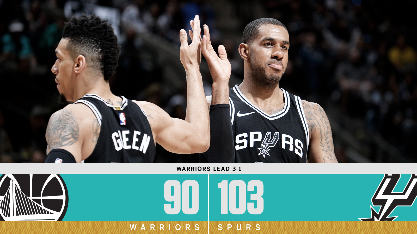 Spurs aren't going down without a fight! https://t.co/72C3UPluzj