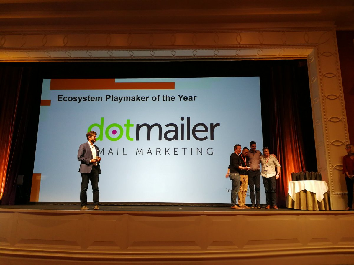samjohnelliott: Congratulations to @dotmailer for ecosystem playmaker of the year award at #MagentoImagine https://t.co/g1P5P0eZhY