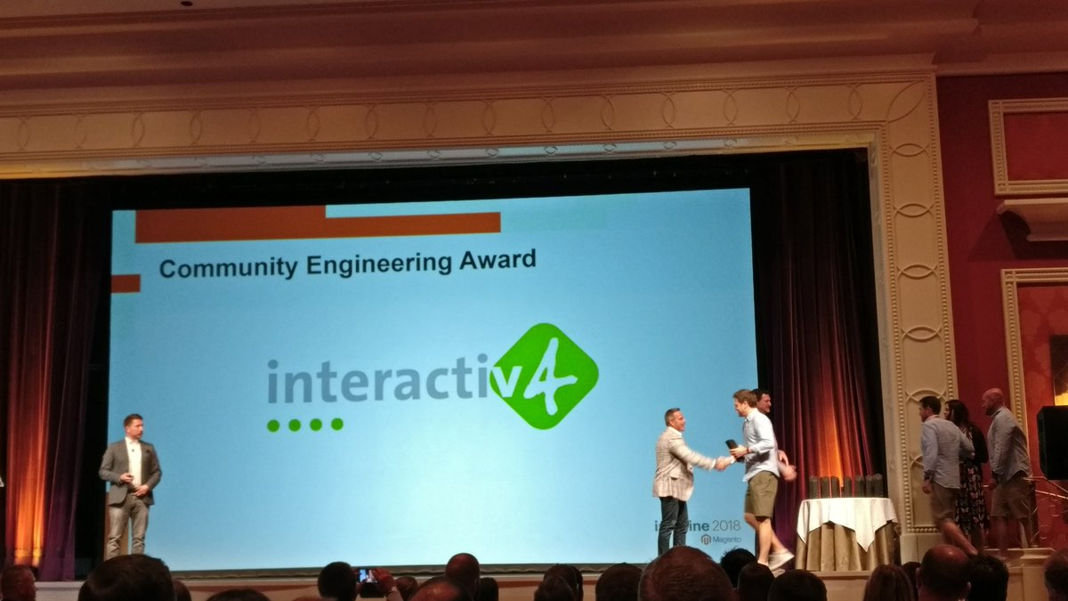 midimarcus: But the winner is @interactiv4 for team! Well done guys! You deserve it! #MagentoImagine https://t.co/LhDjmcZ53B