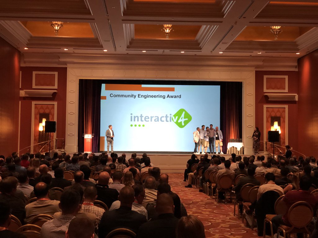 maksek_ua: Congrats @interactiv4 with community engineering award. #MagentoImagine https://t.co/YY4GeuCdFt