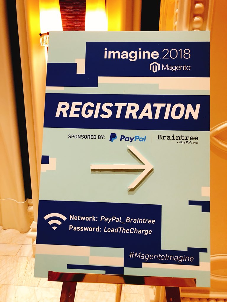 neoshops: To register to the orange conference follow the blue signs. #servicetweet #MagentoImagine https://t.co/gg6oznZMru