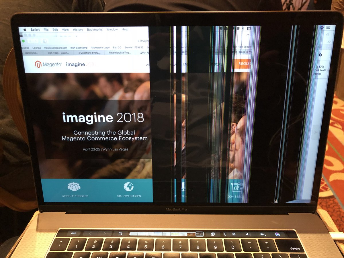 lynch_darin: Looks like the #roadtoimagine was a little rough on this Mac. Can Amazon Now me a new screen? https://t.co/1LnZLSBIKR